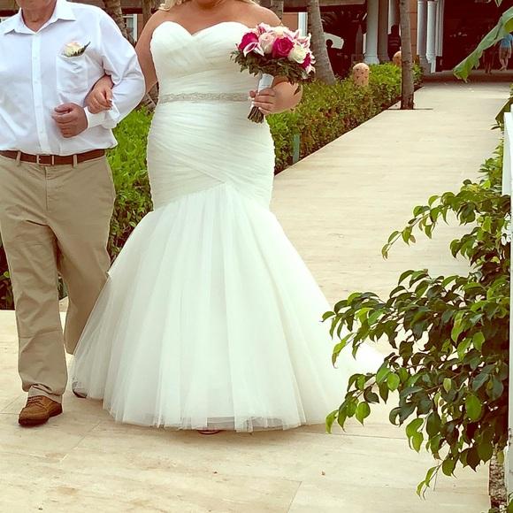 Mori Lee plus-size wedding gown